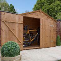 See more information about the Mercia 7 x 3 Double Door Shiplap Apex Bike Shed - Windowless