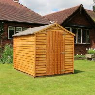 See more information about the Mercia 8 x 6 Overlap Apex Shed - Windowless