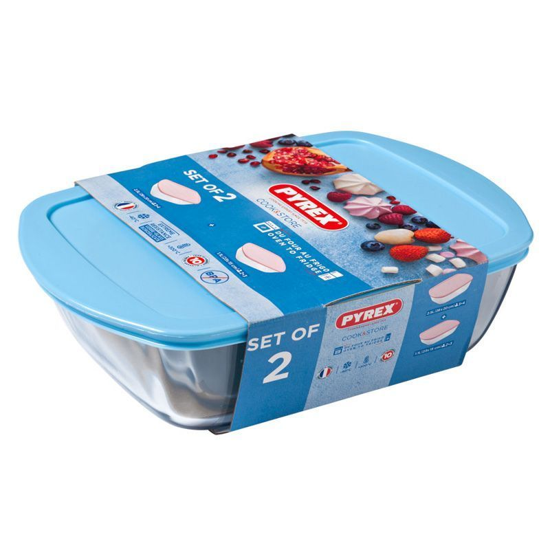 Pyrex 2 Piece Candy Storage Set - Blue