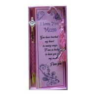 See more information about the Pen & Bookmark Gift - Pink