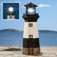 See more information about the Bright Garden Solar Lighthouse Garden Ornament - Black