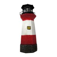 See more information about the Bright Garden Solar Lighthouse Garden Ornament - Red