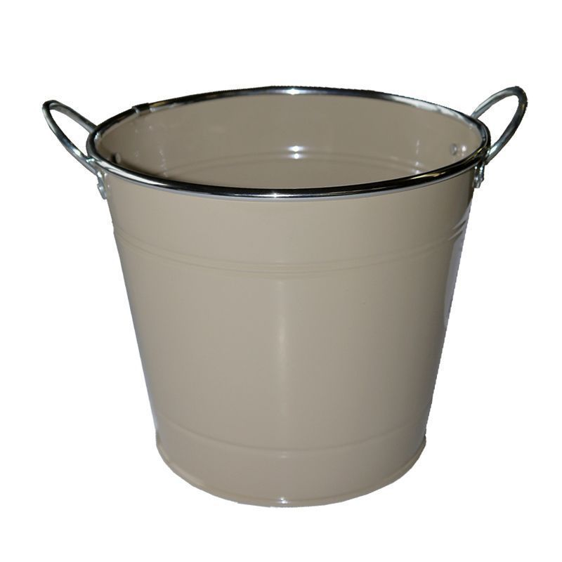 18cm Spring Meadow Flower Pot - Beige