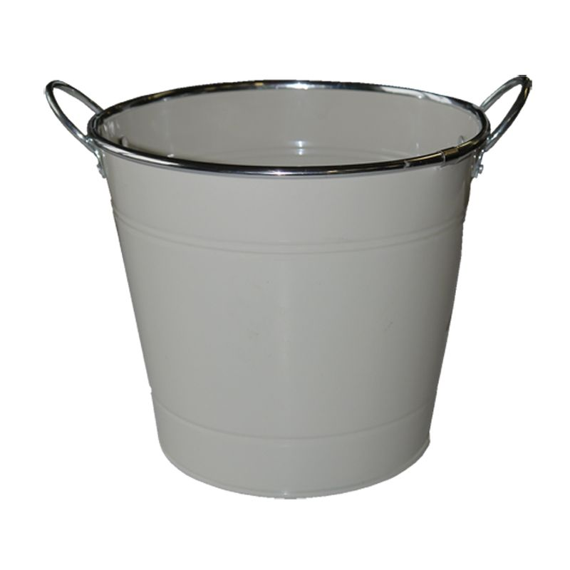 18cm Spring Meadow Flower Pot - Cream