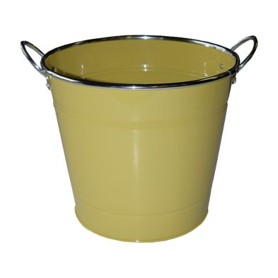 18cm Spring Meadow Flower Pot - Yellow