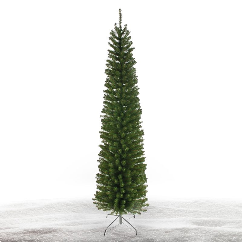 228cm (7 Foot 5 Inch) Green Glenmore Pine 624 Tips Christmas Tree