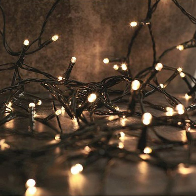 1000 LED White Outdoor Animated Fairy Lights & Timer Mains 100m