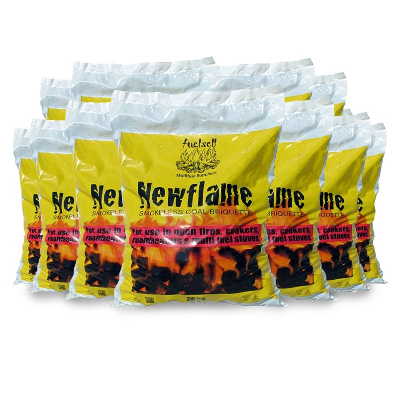 Fuelsell 50 Bags Of 20KG Newflame Smokeless Coal
