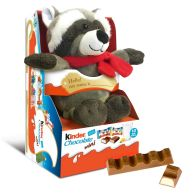 See more information about the Kinder Racoon Fluffy Toy & Chocolate Minis 73g