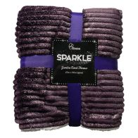 See more information about the Your Home 125 x 150cm Sparkle Jumbo Cord Purple Throw