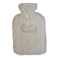 See more information about the 2 Litre Hot Water Bottle with Fur Cover - Cream