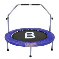 See more information about the 40 Inch Folding Fitness Exercise Mini Trampoline With Handle - Blue