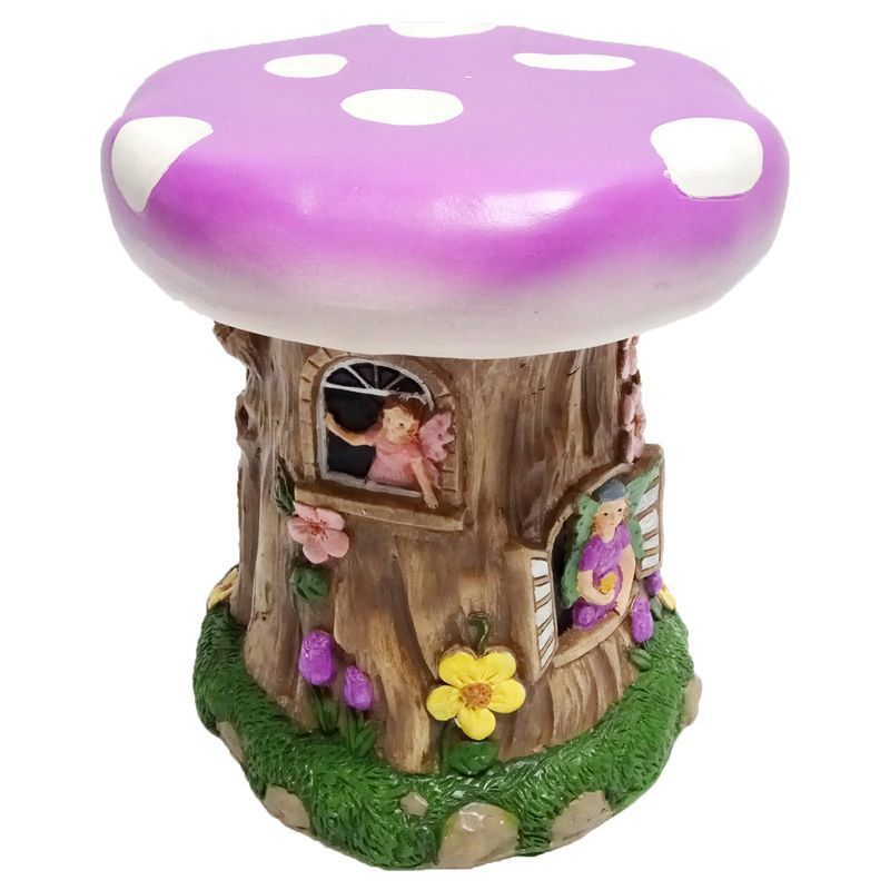 Magical Garden Fairy Stool Purple Buy Online At Qd Stores