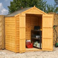 See more information about the Mercia 4 x 6 Double Door Overlap Apex Shed - Windowless
