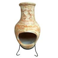 See more information about the Terracotta Clay Large Garden Outdoor Chimenea Patio Heater