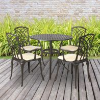 See more information about the 4 Seater Metal Cast Aluminium Garden Furniture Patio Set & Cushions