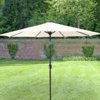 See more information about the Bentley 2.7M Cream Metal Garden Crank & Tilt Parasol