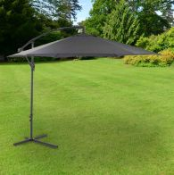 See more information about the Bentley 3M Grey Hanging Banana Crank Crank Parasol