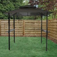 See more information about the Bentley 8ft x 5ft Steel Grill Garden Outdoor Gazebo - Grey