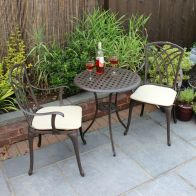 See more information about the 2 Seater Cast Aluminium 3 Piece Cast Garden Bistro Set