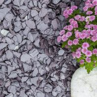 See more information about the Blue Decorative Slate Chippings 20mm 900kg Bulk Bag