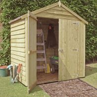 See more information about the Shire Overlap Pressure Treated Garden Shed 4' x 6'