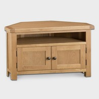 See more information about the Cotswold Corner TV Unit Oak 2 Door 2 Shelf