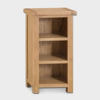 See more information about the Cotswold Narrow Bookcase Oak 3 Shelf