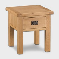 See more information about the Cotswold Small Lamp Table Oak 1 Drawer