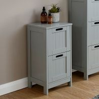 See more information about the Colonial Grey Slim Chest Of 2 Drawers