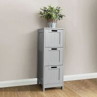 See more information about the Colonial Grey Slim Chest Of 3 Drawers