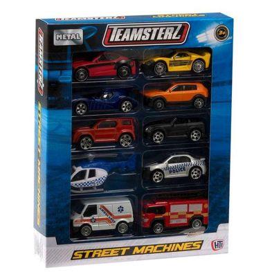 10 Pack Street Machines Emergency Vehicles Pack