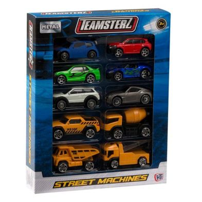 10 Pack Street Machines Construction Vehicles Pack