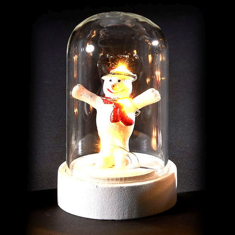 6 LED Glassware Dome Figure Snowman