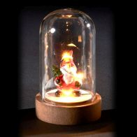 See more information about the 6 LED Glassware Dome Figure Santa