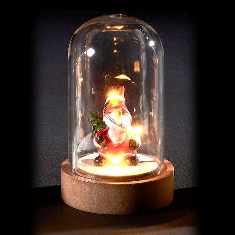 6 LED Glassware Dome Figure Santa