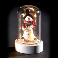 See more information about the 6 LED Glassware Dome Figure Tall Snowman