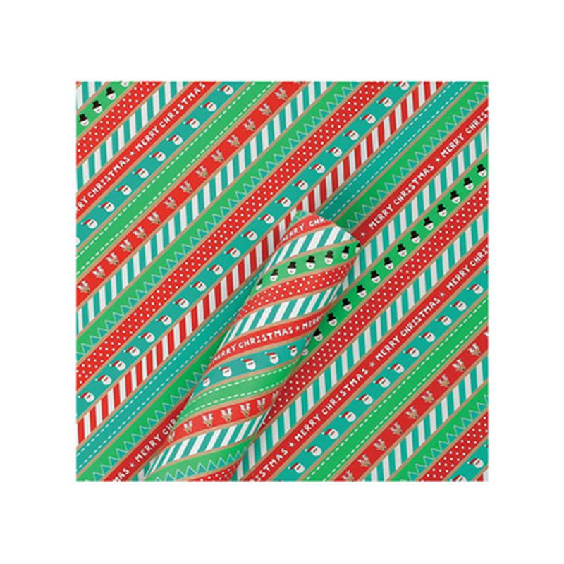 3m Krafty Christmas Wrap - Stripy Xmas