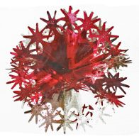 See more information about the Foil Ball Christmas Decoration 10 Inch Red & Gold