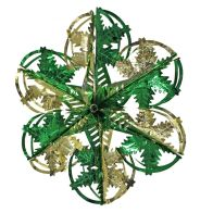 See more information about the Starburst Christmas Decoration 16 Inch Green & Gold