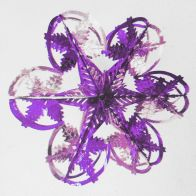 See more information about the Starburst Christmas Decoration 16 Inch Purple & Silver