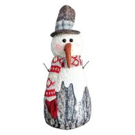 See more information about the Standing Snowman With Brown Top Hat 14 Inch
