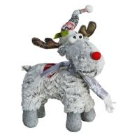 See more information about the Reindeer With Grey Hat & Scarf 10 Inch