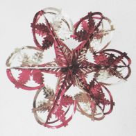 See more information about the Starburst Christmas Decoration 16 Inch Pink & Silver