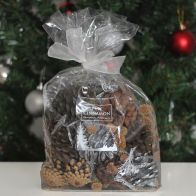 See more information about the Festive Exotics Pine & Cinnamon Potpourri In A Bag - White Ribbon