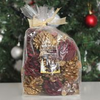 See more information about the Festive Exotics Pine & Cinnamon Potpourri In A Bag - Gold Ribbon