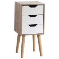 See more information about the Stockholm White Slim Chest Of 3 Drawers