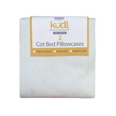 Kidsaw Kudl Kids Pillowcases 100% Cotton (2) White