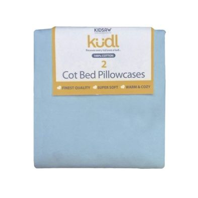 Kidsaw Kudl Kids Pillowcases 100% Cotton (2) Blue