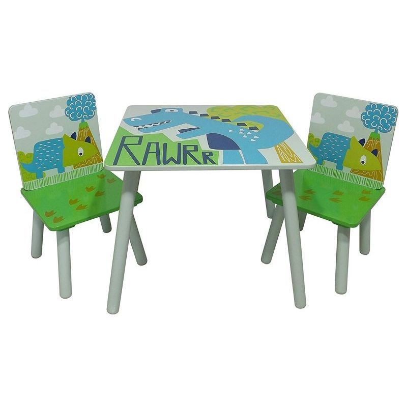 Dinosaur Play Table With 2 Chairs